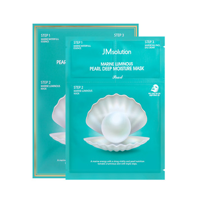 JM Solution Marine Luminous PEARL Deep Moisture Mask - 1 Pack of 10 Masks