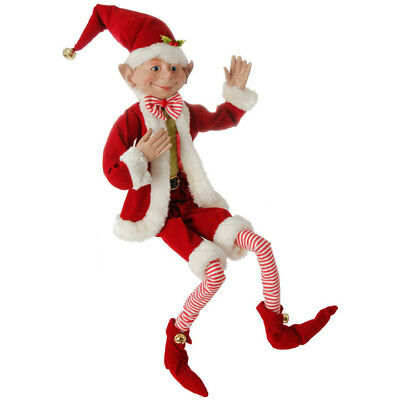 "30"" RED POSABLE ELF 3702432 RAZ Imports Christmas NEW FaBuLouS!"