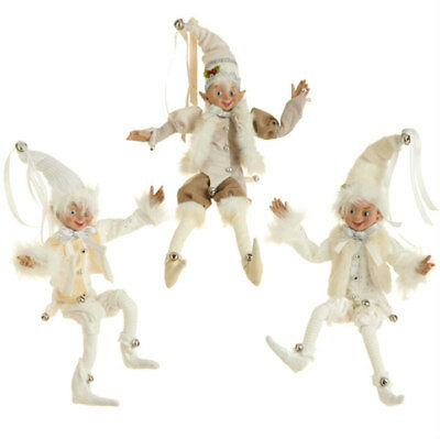 "16"" CREAM POSABLE ELF 3402443 RAZ Imports Christmas NEW FaBuLouS!"