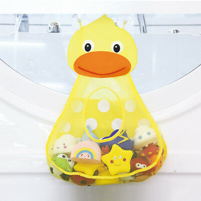 Baby Bathtub Toy Mesh Duck Storage Bag Organizer Holder Bathroom Organiser