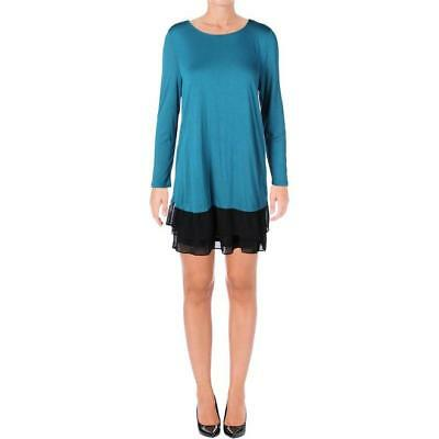 Kensie Women's Long Sleeve Teal Multi Dress Size XS