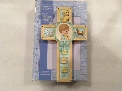 Precious Moments Jesus Loves Me Boy Praying With Bear Wall Cross 701106