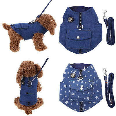 Pet Dog Clothes Walk Collar Harness Vest Chest Safety Strap Leash Traction Rope