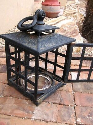"Vintage Japanese 13"" Cast Iron  Footed Tealight Pagoda"