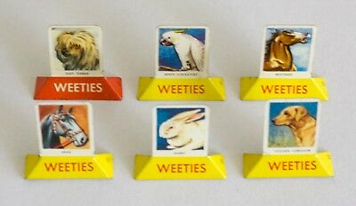 Nabisco Weeties Tin Plate Picture Cereal Premium (1957) - 6 Different