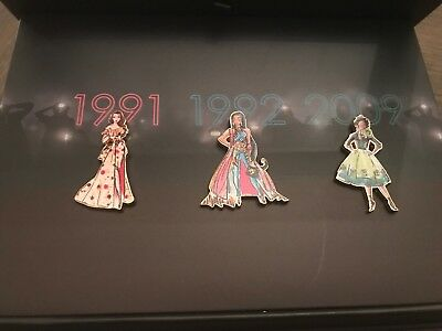 Disney Princess Designer Collection Limited Edition of 3 Pin Set Limited Edition