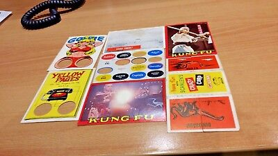 1960S/70S Scanlens  Cards And Odds And Ends War Story. Kung Fu Good.