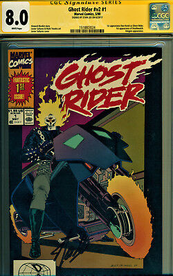 Ghost Rider #1 Cgc 8.0 Signed By Stan Lee! 1St Dan Ketch/kingpin/deathwatch!