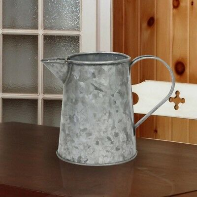 Vintage Watering Can Pitcher ~ Antiqued Galvanized Metal Rustic Farmhouse Vase