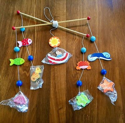 Classic World Ocean Wooden Under the Sea Musical Baby Mobile Marine Nursery Fish