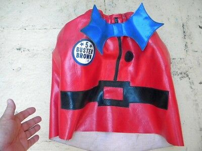 Vintage BUSTER BROWN Balloon Blower Cape - RED JACKET ONLY - Helium Balloons