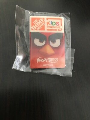 Home Depot Kids Workshops Angry Birds Movie May 2016 Collection Pin NIP