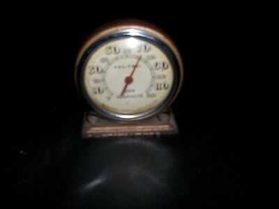 Vintage Tel-Tru Room Thermometer , By Germanow-Simon Co. Rochester Ny