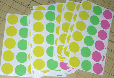 315 Blank Yard Sale Garage Rummage Stickers Price Labels Neon See My Other Items