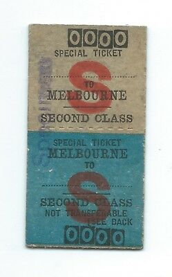Special Blank (X to Melb) Vic Country Rtn Ticket 1939