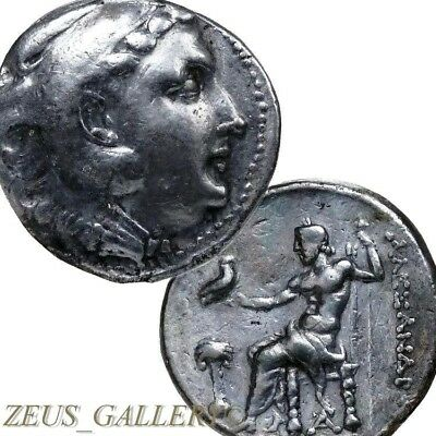 ALEXANDER the Great  RARE Palm Tree Phoenicia Ancient Greek Silver Tetradrachm