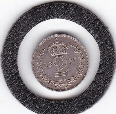 1897   Queen  Victoria  Maundy Two  Pence  (m2d)  Silver (92.5%) Coin