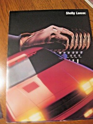 1987 Shelby Lancer and GLHS Charger brochure
