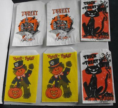 6 Vintage Halloween Trick or Treat Bags 3 Different Styles