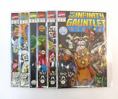 INFINITY GAUNTLET #1-6 Complete Set Comic Lot Thanos Avengers Marvel Starlin