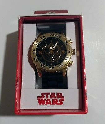 Star Wars Rebel Watch by Accutime Featuring Rebel Insignia With Metal Bezel