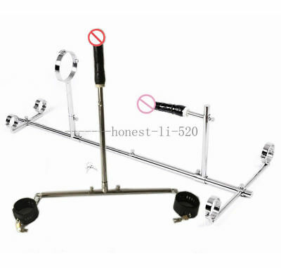 Useful Steel Female Slave Rack Frame Spreader Bar Steel Ankle Cuffs Restraint With Plug Other Sexual Wellness