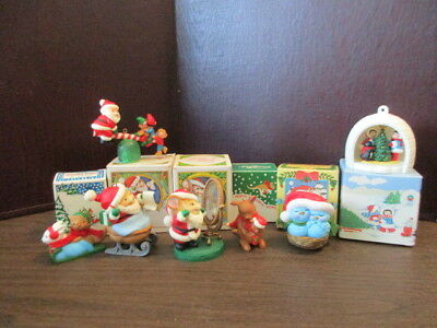 lot of vintage avon christmas decorations 1980s iob keepsake ornaments - 1980s Christmas Decorations