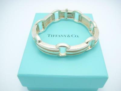 "Tiffany & Co. Sterling Silver Atlas Groove Large Link Bracelet 7.25"" - Box"