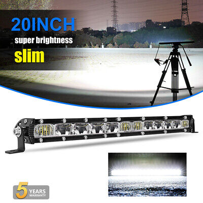 Slim 20inch 520W CREE Led work Light Bar Spot Flood Offroad SUV TRUCK PK Quad