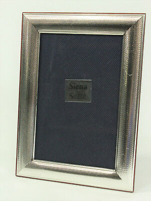 "Siena - Italy Sterling Silver Picture Frame, Glass & Wood 4"" x 6"". Anne Anka"