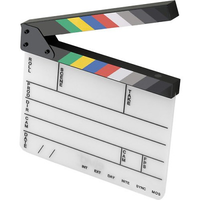 Elvid 9-Section Acrylic Dry Erase Production Slate [Clapboard] with Color Clappe