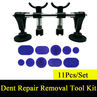 11Pcs Professional Car Body Paintless Dent Repair PDR Tools Kit Puller & 10 Tabs