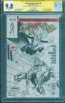 Amazing Spider Man 8 Sketch Variant CGC 9.8 SS 2X Stan Lee Campbell 194 homage