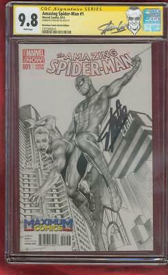 SPIDER MAN 1 CGC SS 9.8 Stan Lee Max Amazing Fantasy 15 Homage Sketch Variant