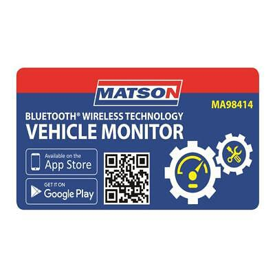 Matson Vehicle System Monitoring Bluetooth Wireless Real Time Fault Finding