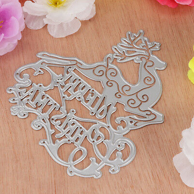 Xmas Elk Metal Cutting Dies Stencil Embossing Scrapbooking Paper Album Craft