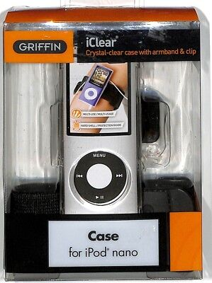Griffin iClear Case Armband / Belt Clip for iPod nano 4th Gen