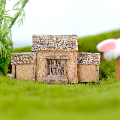 4 Pcs Cute Village House Mini Craft Fairy Garden Micro Landscape Ornaments