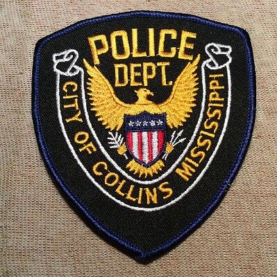 MS City of Collins Mississippi Police Patch