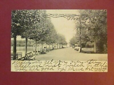 Souvenir from Birmingham, Alabama, 4154 A View at East Lake UDB Postmarked 1907