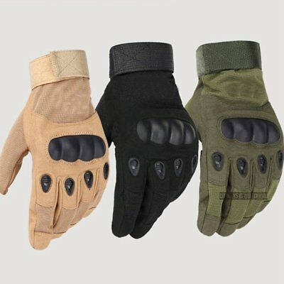 Tactical Gloves Military Army Paintball Airsoft Outdoor Sports Shooting Gloves E