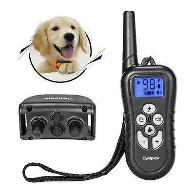 Ownpets 300 Yards Remote Controlled Dog Training Collar Rechargeable Waterproof