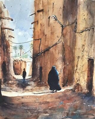 "ORIGINAL Watercolor Painting Art  Morocco 8"" X 10"" NOT A PRINT"