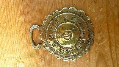 Horse Brass Old Clock Face Vintage
