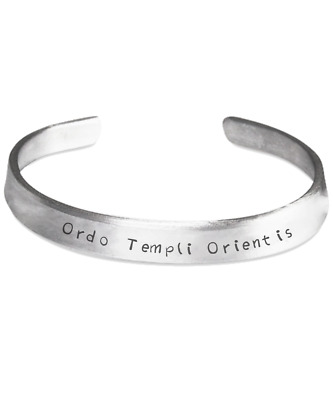 Ordo Templi Orientis bracelet - esoteric Thelema Aleister Crowley occult gift 93