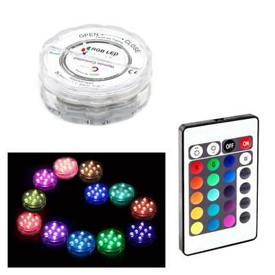 Waterproof Submersible LED Light RGB Lamp for Vase Wedding Party Swimming Gift.