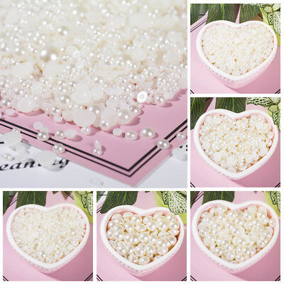 Half Pearl Round Bead Flat Back Scrapbook for Craft FlatBack 4-16mm