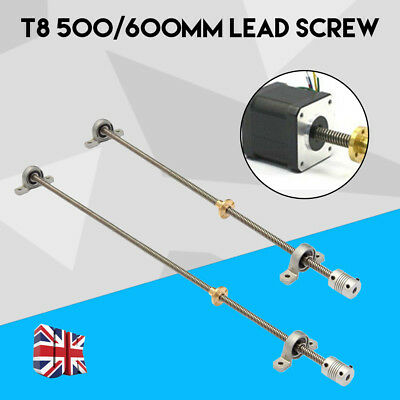 1 Lead Screw+1 Screw Nut+2 Mounted Ball Bearing+1 Shaft Coupling For 3D Printers