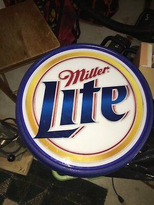 Vintage MILLER LITE  Electric Sign Double Sided 2001