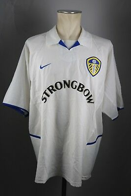 Leeds United FC Trikot Gr. XL 2002-2003 Jersey Nike Home Strongbow